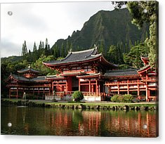 Acrylic Print featuring the photograph Byodo-in Temple, Oahu, Hawaii by Mark Czerniec