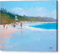 Byron Bay Beach Walkers Acrylic Print