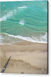 Acrylic Print featuring the photograph Byron Beach Life by Chris Cousins