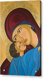 Byzantine Art Mother Love Acrylic Print by Marinella Owens