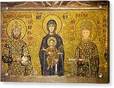 Byzantine Mosaic In Hagia Sophia Acrylic Print
