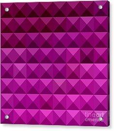 Byzantine Purple Abstract Low Polygon Background Acrylic Print by Aloysius Patrimonio