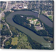 Acrylic Print featuring the photograph C-016 Carson Park Eauclaire Wisconsin by Bill Lang