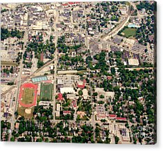 Acrylic Print featuring the photograph C-017 Carroll University Waukesha Wisconsin by Bill Lang