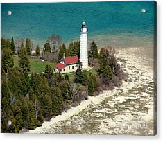 Acrylic Print featuring the photograph C-018 Cana Island Lighthouse by Bill Lang