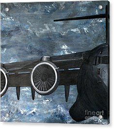 C-17 Globemaster IIi- Panel 2 Acrylic Print by Holly York