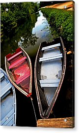 C And O Canal With Rowboats Acrylic Print