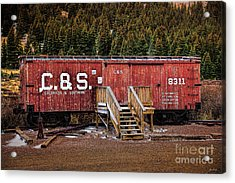 C And S Railroad Acrylic Print