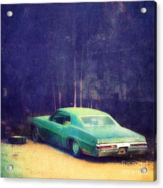 The Old Car Acrylic Print by Priska Wettstein