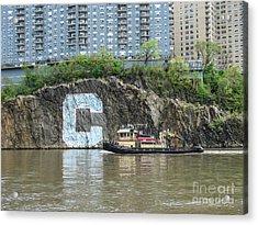 C Rock With Tug Acrylic Print