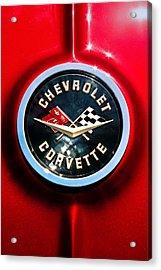 C2 Corvette Logo Acrylic Print by Scott Wyatt