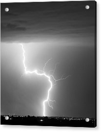 C2g Lightning Strike In Black And White Acrylic Print by James BO  Insogna