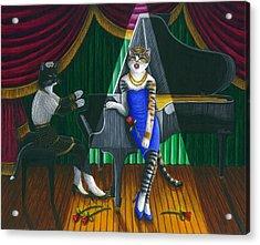 Cabaret Cats Acrylic Print by Carol Wilson