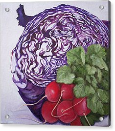 Cabbage Maze Acrylic Print
