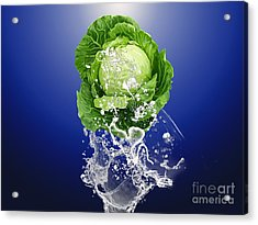 Cabbage Splash Acrylic Print