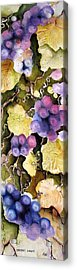 Acrylic Print featuring the painting Cabernet Harvest 2 by Marti Green