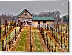 Cabin At Autumn Creek Vineyard Acrylic Print