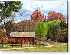 Acrylic Print featuring the photograph Cabin At Cathedral Rock by James Eddy