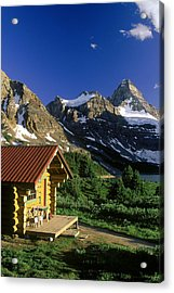 Cabin At Mt Assiniboine Lodge, Mt Acrylic Print