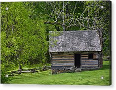 Cabin At Zebulon Vance Birthplace Acrylic Print
