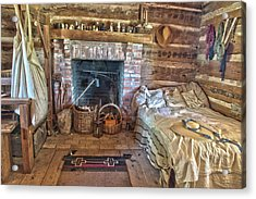 Cabin Bedroom Acrylic Print