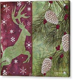 Cabin Christmas II Acrylic Print