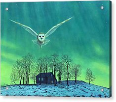 Cabin Comfort Acrylic Print by James W Johnson