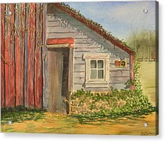 Cabin Fever Acrylic Print by Ally Benbrook