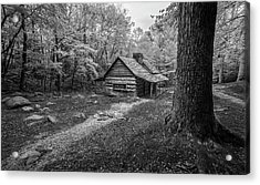 Cabin In The Cove Acrylic Print by Jon Glaser