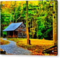 Cabin In The Woods Acrylic Print by Dan Sproul