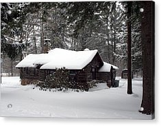 Acrylic Print featuring the photograph Cabin In The Woods by Denise Moore