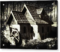 Cabin In The Woods Acrylic Print by Wim Lanclus