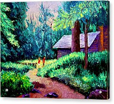 Cabin In Woods Acrylic Print by Stan Hamilton