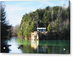 Cabin On The Lake Acrylic Print
