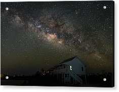 Cabin Under The Milky Way Acrylic Print