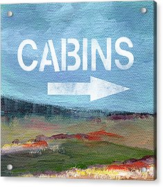 Cabins- Landscape Painting By Linda Woods Acrylic Print by Linda Woods