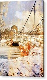 Cable Bridge Acrylic Print