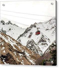 Cable Car In Puy De Sancy. Auvergne. France Acrylic Print by Bernard Jaubert