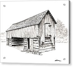 Cable Mill Barn Acrylic Print by Dave Olson
