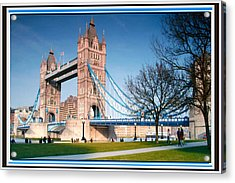 Cable-stayed Walk Way Over Bridge In London Acrylic Print
