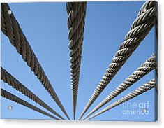 Cables To Heaven Acrylic Print by Andrew Serff