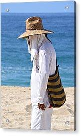 Cabo Beach Hawker. Acrylic Print