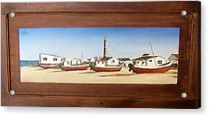 Acrylic Print featuring the painting Cabo Polonio 2 by Natalia Tejera