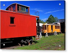 Caboose At Shelburne Trolley Museum Acrylic Print by John Burk