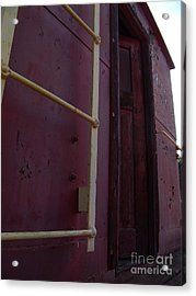 Caboose Door Acrylic Print by The Stone Age