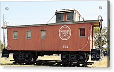 Acrylic Print featuring the photograph Caboose by Ray Shrewsberry