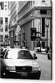 Cabs In The City Acrylic Print