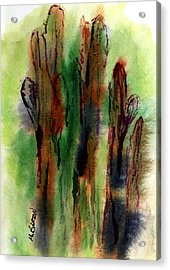 Acrylic Print featuring the painting Cactus Coolers by Marilyn Barton