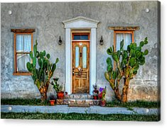 Acrylic Print featuring the photograph Cactus Guards by Ken Smith