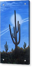 Acrylic Print featuring the painting Cactus Halo by Judy Filarecki